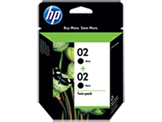 HP 02 2-pack Black Ink Cartridges