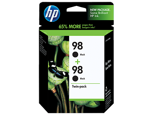 HP 98 2-pack Black Inkjet Print Cartridges