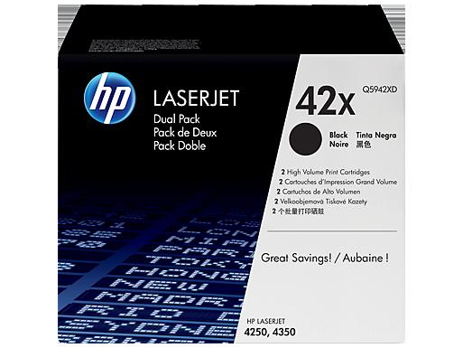 HP 42X 2-pack High Yield Black Original LaserJet Toner Cartridges