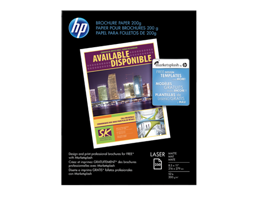HP Laser Matte Brochure Paper 200 gsm-250 sht/Letter/8.5 x 11 in