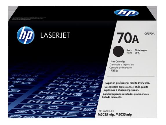HP 70A Black Original LaserJet Toner Cartridge, Q7570A