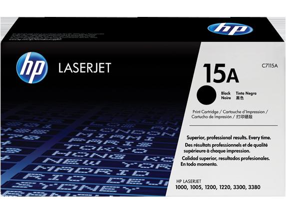 HP 15A Black Original LaserJet Toner Cartridge, C7115A