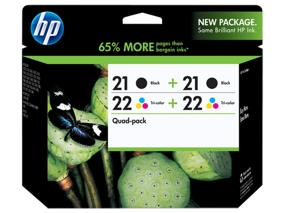 HP 21/21/22/22 Combo-pack Inkjet Print Cartridges