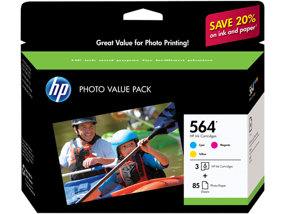 HP 564 Series Photo Value Pack-85 sht/4 x 6 in borderless
