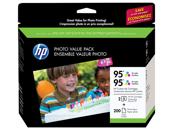 HP 95 Series Photo Value Pack-200 sht/4 x