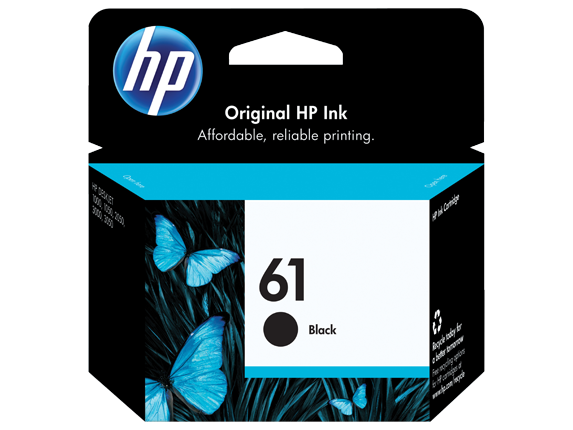 HP 61 Black Printer Ink Cartridge CH561WN140
