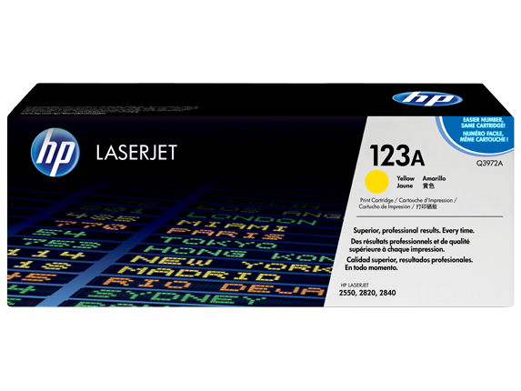 HP 123A Yellow LaserJet Toner Cartridge