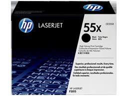 HP 55X High Yield Black Original LaserJet Toner Cartridge, CE255X