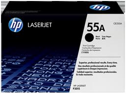 HP 55A Black Original LaserJet Toner Cartridge, CE255A