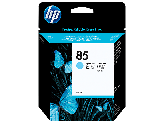 HP 85 69-ml Light Cyan DesignJet Ink Cartridge