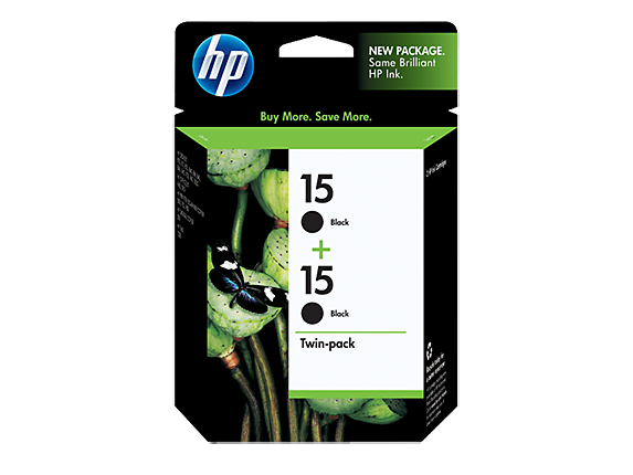 HP 15 2-pack Black Inkjet Print Cartridges