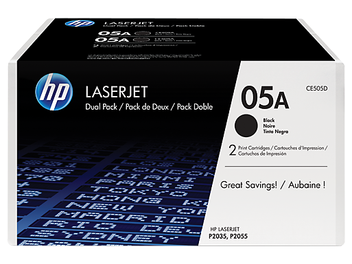 HP 05A 2-pack Black Original LaserJet Toner Cartridges