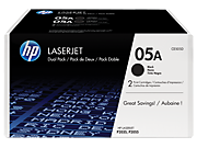HP 05A Black Dual Pack LaserJet Toner Cartridges