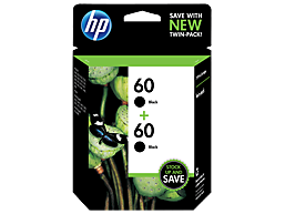 HP 60 2-pack Black Original Ink Cartridges