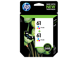 HP 61 2-pack Tri-color Original Ink Cartridges