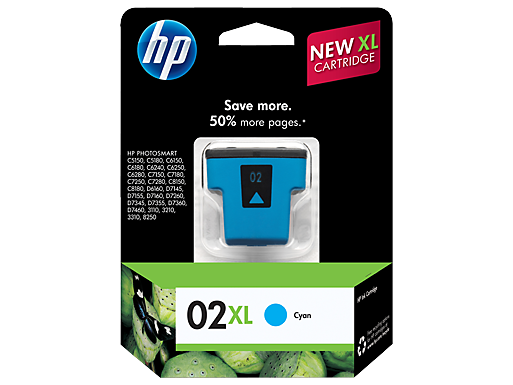HP 02XL High Yield Cyan Original Ink Cartridge