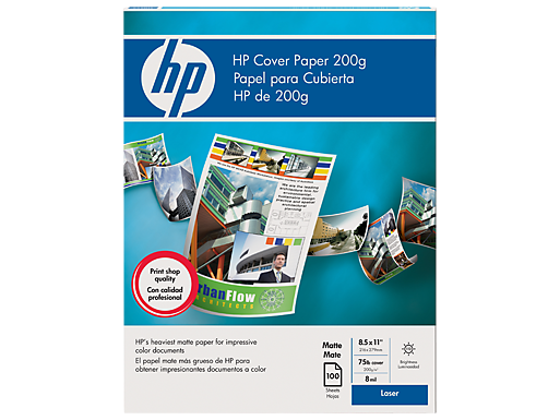 HP Cover Paper 200 gsm-100 sht/Letter/8.5 x 11 in