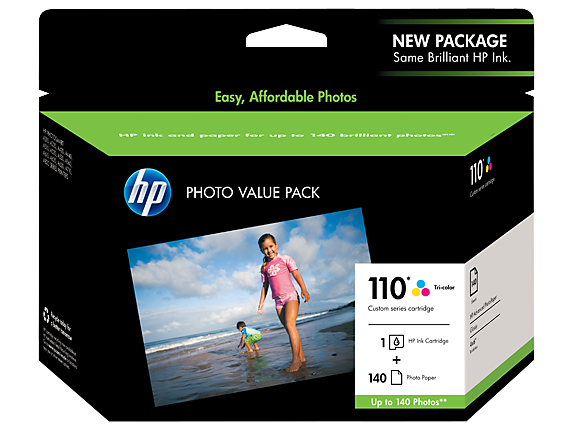 HP 110 Series Photo Pack-140 sht/4 x 6 in