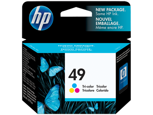 HP 49 Tri-color Original Ink Cartridge