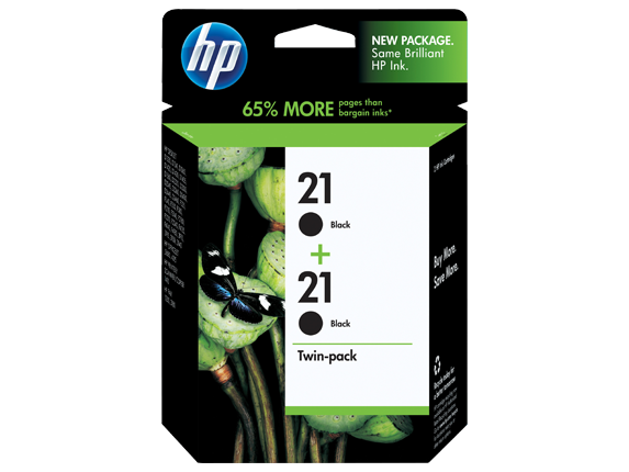 HP 21 2-pack Black Original Ink Cartridges