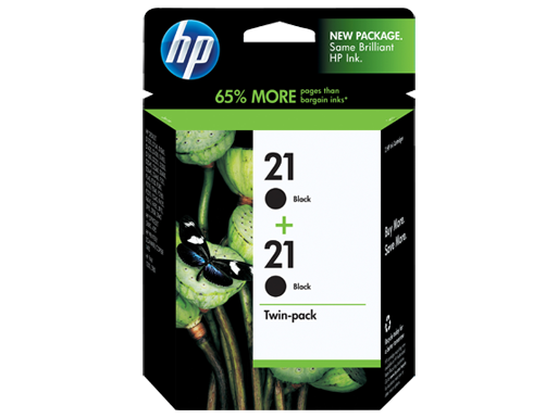 HP 21 2-pack Black Inkjet Print Cartridges
