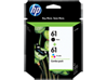 HP 61 2-pack Black/Tri-color Original Ink Cartridges