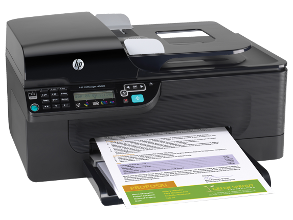 how to connect hp officejet 4500 to laptop