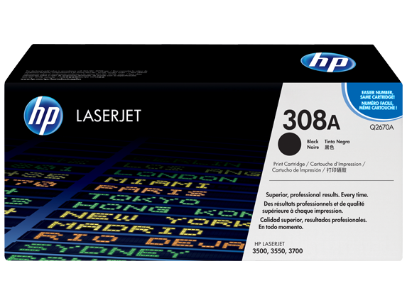 HP 308A Black Laserjet Toner Cartridge