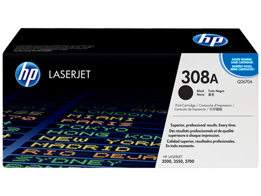 HP 308A Black Original LaserJet Toner Cartridge