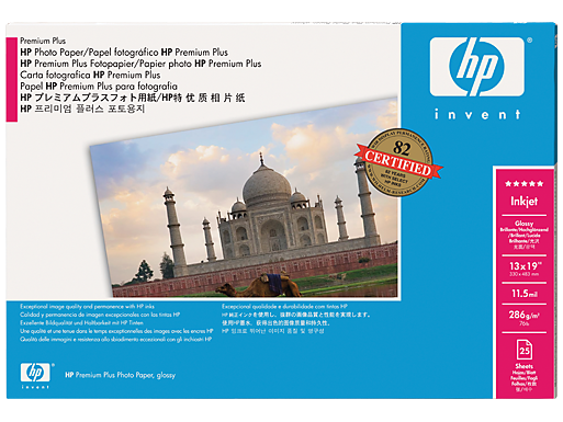 HP Premium Plus Gloss Photo Paper-610 mm x 15.2 m (24 in x 50 ft)