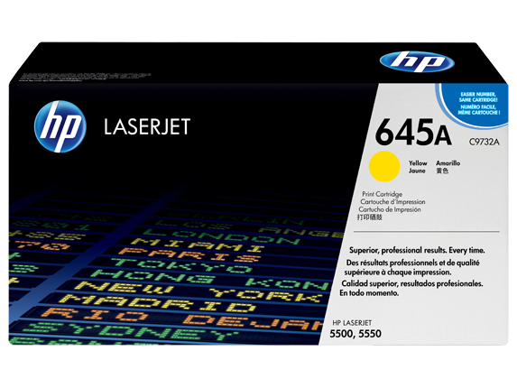 HP 645A Yellow LaserJet Toner Cartridge