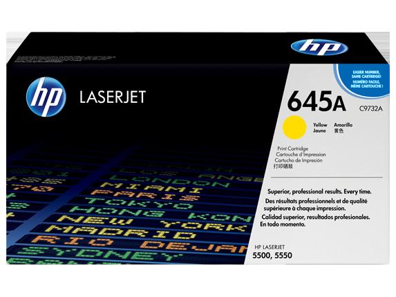 HP 645A Yellow Original LaserJet Toner Cartridge, C9732A