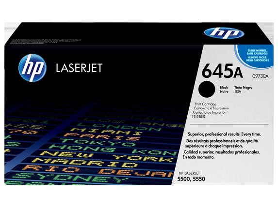 HP 645A Black Original LaserJet Toner Cartridge, C9730A
