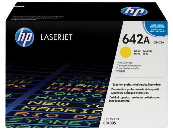 HP 642A Yellow Original LaserJet Toner Cartridge