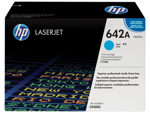 HP 642A Cyan LaserJet Toner Cartridge