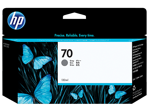 HP 70 130-ml Gray Ink Cartridge