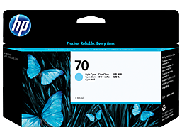 HP 70 130-ml Light Cyan Designjet Ink Cartridge