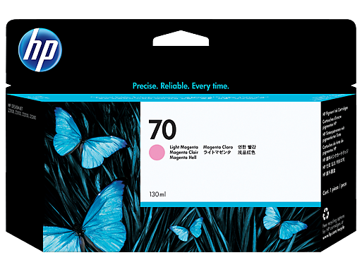 HP 70 130-ml Light Magenta Ink Cartridge