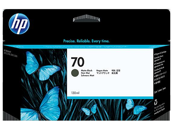 HP 70 130-ml Matte Black DesignJet Ink Cartridge