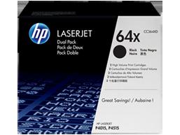 HP 64X 2-pack High Yield Black Original LaserJet Toner Cartridges