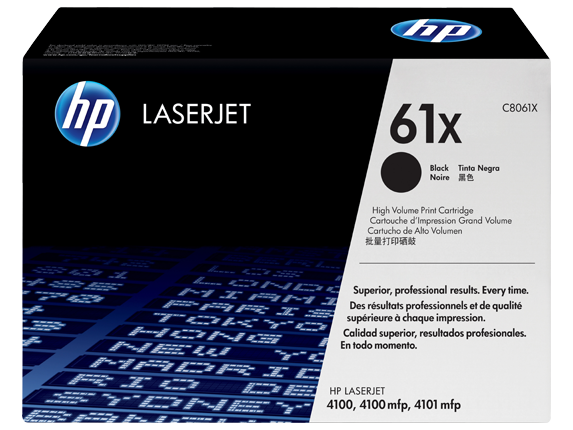 HP 61X High Yield Black Original LaserJet Toner Cartridge, C8061X