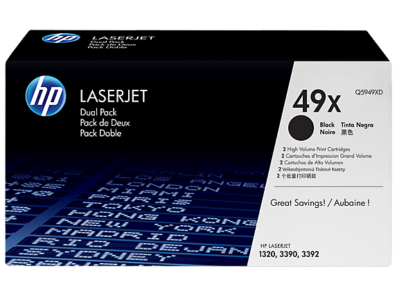 HP 49X Black Dual Pack LaserJet Toner Cartridges