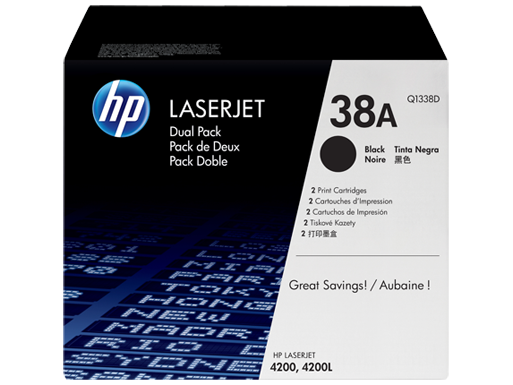 HP 38A 2-pack Black Original LaserJet Toner Cartridges