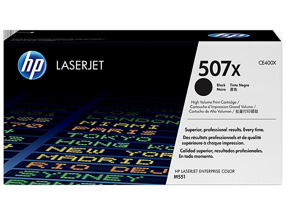 HP 507X High Yield Black Original LaserJet Toner Cartridge, CE400X