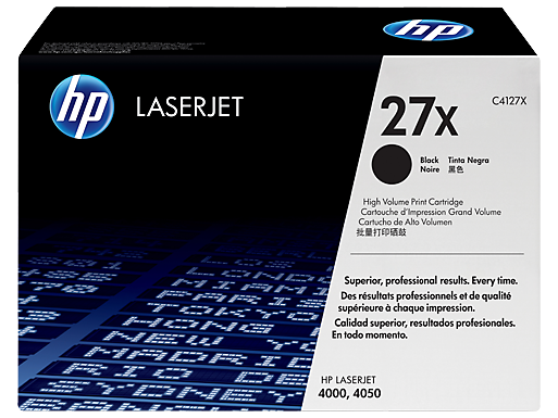 HP 27X High Yield Black Original LaserJet Toner Cartridge