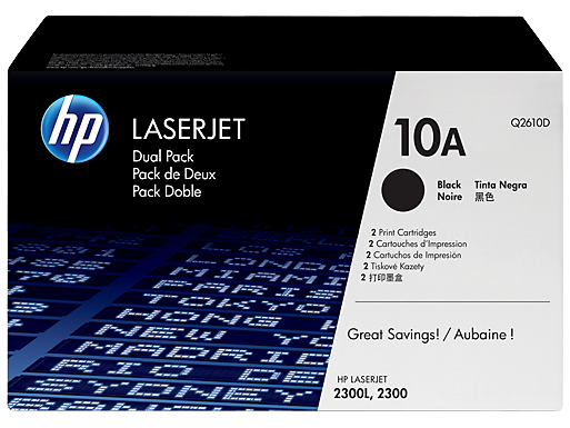 HP 10A 2-pack Black Original LaserJet Toner Cartridges
