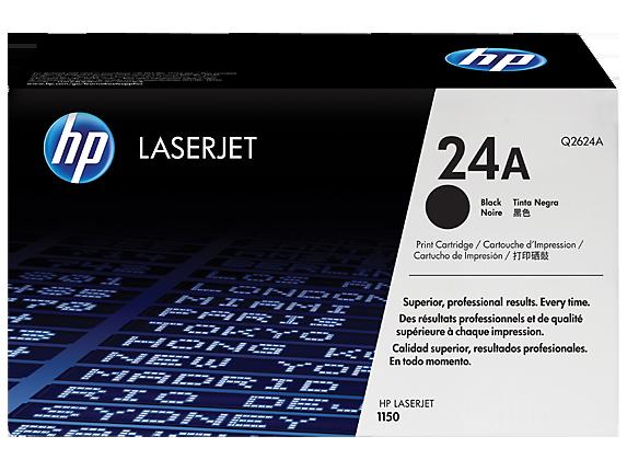 HP 24A Black Original LaserJet Toner Cartridge, Q2624A