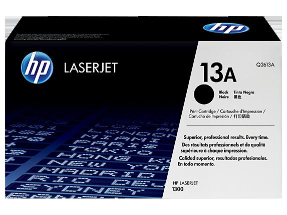 HP 13A Black Original LaserJet Toner Cartridge, Q2613A