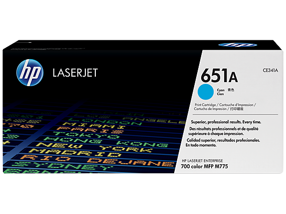 HP 651A Cyan LaserJet Toner Cartridge