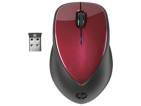 HP x4000 Wireless Mouse (Ruby Red) with Laser